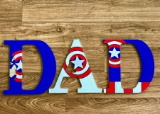 "9.5"" Avengers Captain America - Dad"