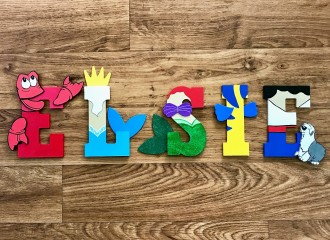 Disney Wooden Letters Artsy Autly