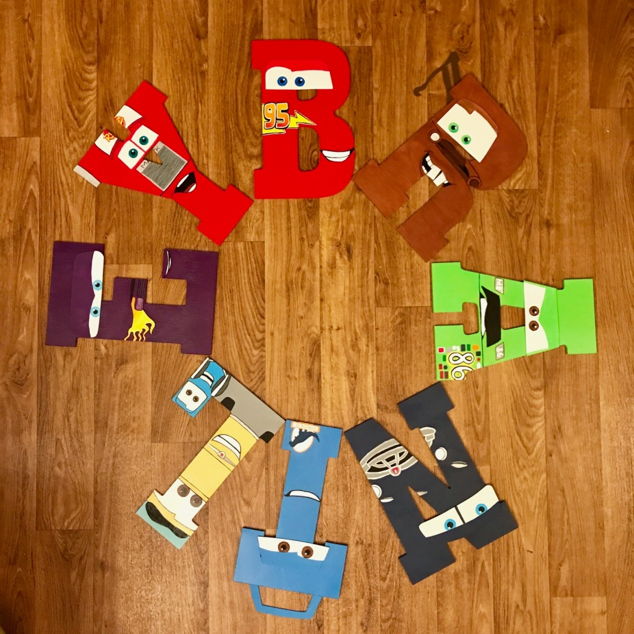 """13"""" Cars Wooden Letters - Brantley"""